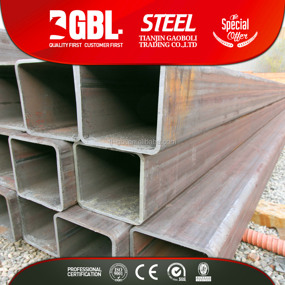 square tube 100x100 erw Q345B welded square steel pipe oil drilling pipes