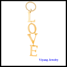 Yiwu Cheap Alphabet Key Chain for Couples