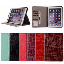 Crocodile Pattern Full Grain Cowhide Case Cover For Ipad Pro 9.7 2017,Universal Genuine Stand Leather Case For Ipad Pro 9.7