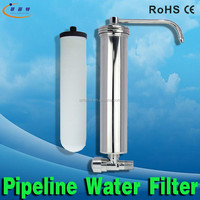 Household Pure Water Filter System Desktop SS 304 Water Purification Cartridge Foodgrade Ceramic+ Active Carbon