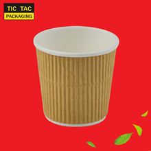 paper cup 4 oz disposable ripple cups for espresso