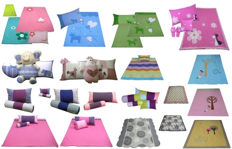 character applique patchwork embroidery designs cotton fabric baby kids bedding set blanket quilt mat pad materess cover (JB-Q-2