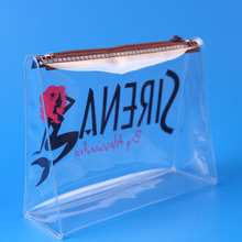 full printing pvc waterproof ziplock bag/ zipper bag for shopping