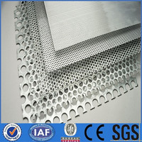 304 Stainless steel perforated roll / round hole metal wire mesh