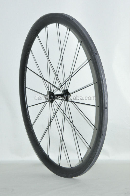 China best suer light front and rear durable carbon 700c wheel 38mm tubular with top quality