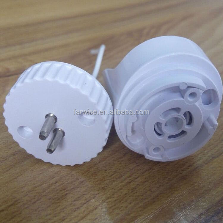 Led plastic pipe end caps fluorescent lamp holder oval T8 to T5