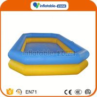 Customized inflatable water pool for new wholesale inflatable paddling water pool with bumper boat