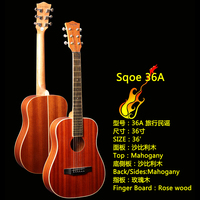 Sqoe high end 36 inches traval acoustic guitar 36-A