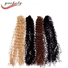High heat resistant fiber 24inches Crochet knot braid micro ZIZI hair Synthetic hair extensions