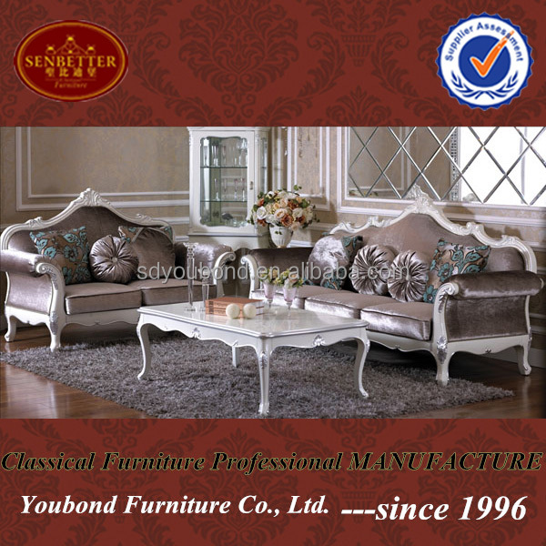 YB07 Wooden hand carved king sofa set luxury Italian living room sofa set home furniture
