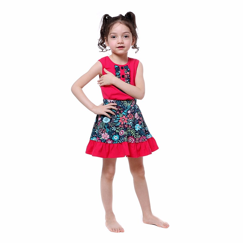 Fashion ruffle pink kids clothes boutique child easter boutique outfits 2017