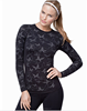 Ladies Butterfly Print Fitness Round Neck