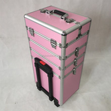 aluminum Special cosmetics pull rod box trolley case