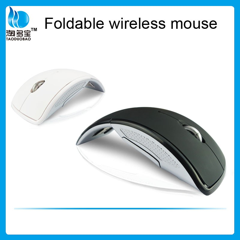 Hot Selling Portable Arc Foldable Wireless Optical Mouses