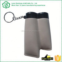 Customized high quality key ring with pu ball