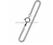Jewelry Chrome Plated 12 Inch Stainless Steel Bolt Ring Pocket Watch Chain
