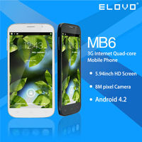 shenzhen mobile phone 6'' MTK6582 quad core smart phone black market mobile phones