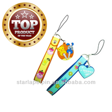 ST-camera strap cell phone strap with charm