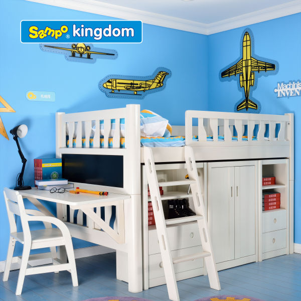 smart design kids furniture white color customized accepted SP-SC013