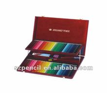 Fancy wooden pencil box with colour lead, colored pencils bulk