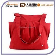 Korean Style Wholesale Canvas Travel Handbag China Durable Shoulder Messenger Mummy Diaper Baby Bag
