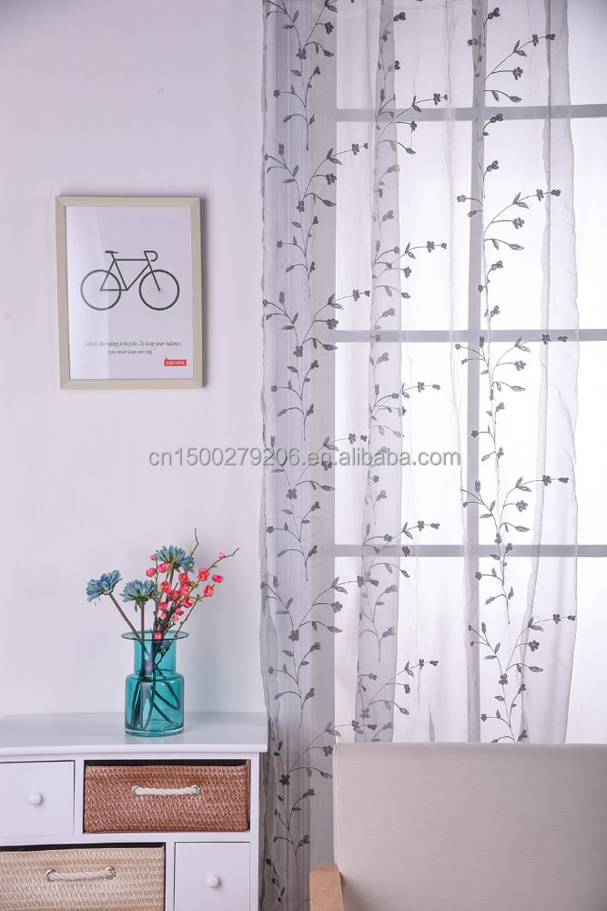 high-grade embroidery curtain, home decorative romantic design macrame embroidery curtain