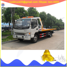 Third-party oversea service provided HFC1081P91K1C5 JAC 4*2 5 tons flatbed tow truck for sale in india