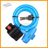 Bicycle Cycling Lock with Keys Anti-theft Mountain Bike Steel Chain Cable Lock