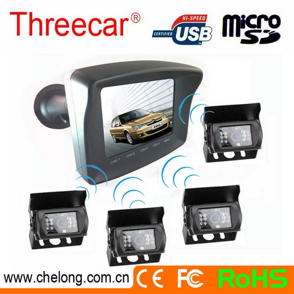 Newest 3.5 Inch TFT Touch Screen Monitor Wireless Cameras visible parking sensor system
