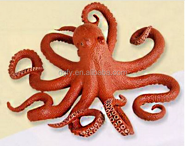 cuttlefish eco-friendly small plastic animal figures Simulated lobster pvc children's toy