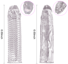 Condoms with spine Crystal Cock Rings for Adult Male Sex Product Reusable Condom Penis Sleeves delay Extension dildo cover