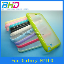 Colorful frosted case for Samsung n7100 Galaxy note 2 protective case