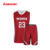 Latest youth size sublimated basketball jersey uniform set design color red