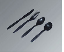 White, Black, Cream or Clear Color PS plastic type tableware use disposable spoons