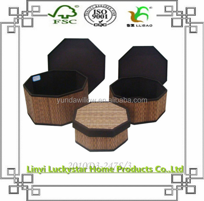 Home and Storage Decorative Round Nesting Storage Boxes