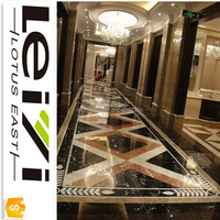 Lotus East Hotel medallion marble waterjet pattern floor design