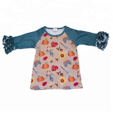 Nieuwe fashion design lange mouwen cartoon patroon comfortabele baby tops