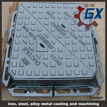 China Competitive High Quality Square Grey Polymer Concrete Manhole Cover