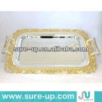 High quality antique mirror silver plated carving trays