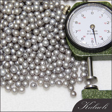 Wholesale 4-5 mm AAA grey round freshwater loose borneo pearl