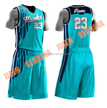 2015 man wholesale custom sublimation high quality training clothes for college school match reversible basketball uniform