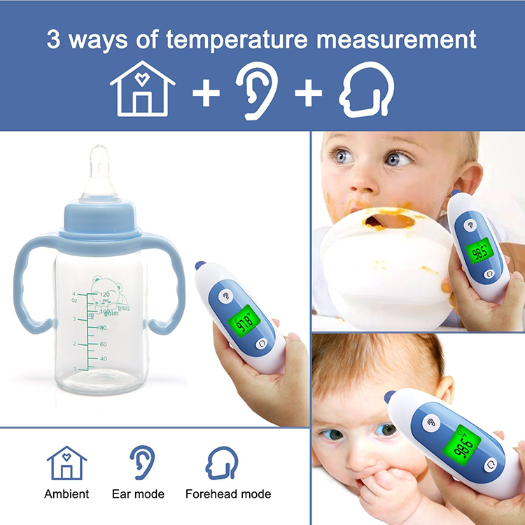 Medical Digital Infrared Thermometer Forehead Baby ear Thermometer