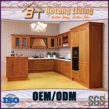 Botong Living KC-SW07 solid wood cupboard closet kitchen cabinet kitchen cabinet for antique style house
