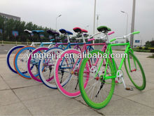 Hot selling new style and beautiful 700c fixed bicycle/road bike