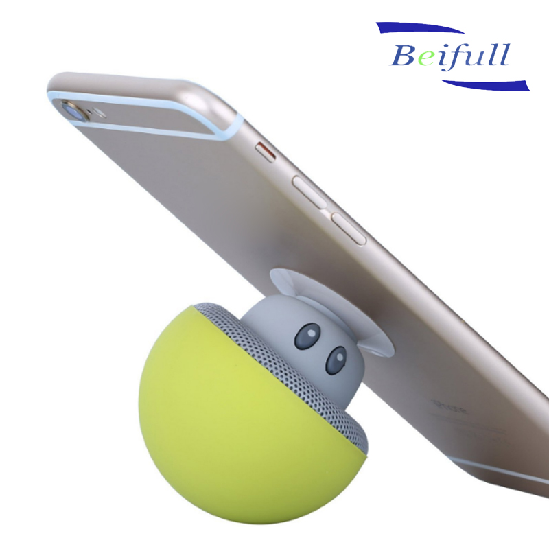 Mini mushroom sucking speaker bluetooth portable with mobile stand function