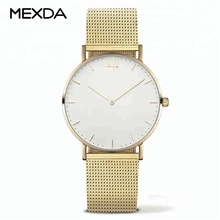 top quality stainless steel unisex minimalist watch quartz movement watch for sale