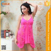 HSZ-8038# Wholesale sexy see through nighty wear fashion design women hot nighty modern style women nighty