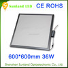 High Quality surface mounted square High lumen 100lm/w 36w led panel light,36w led ceiling panel light 600x600