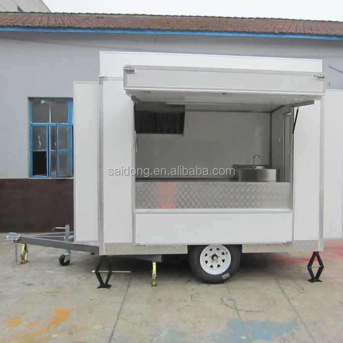 The best selling mobile food cart for sale BBQ vending van with CE from manufacturer