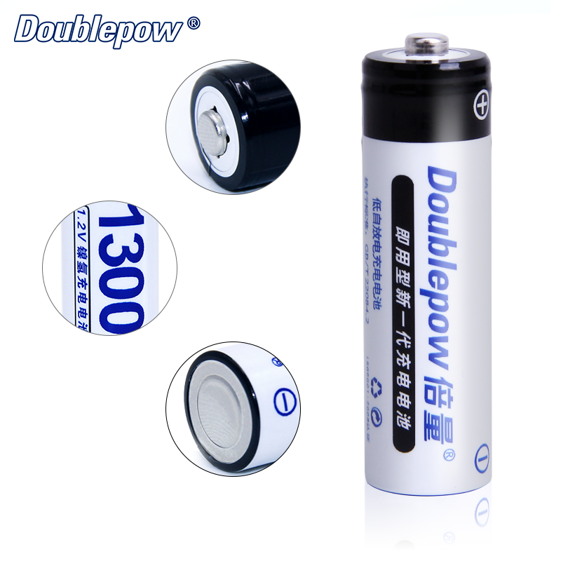 Doublepow factory offer directly  1.2v aa rechargeable battery 1300mah nimh battery in stock